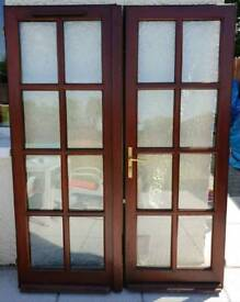 Interior or exterior double french doors