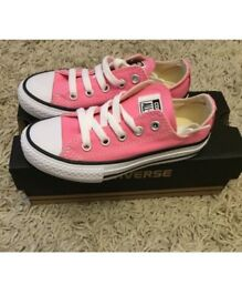 Pink Converse size 10 brand new in box.