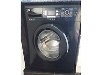 Hardly-used, black, Beko washing machine