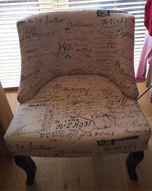 Natural Script Chair