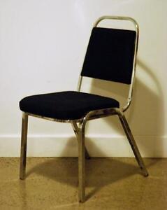 Chaise pour congrès / evènements empilable, remises à neuf