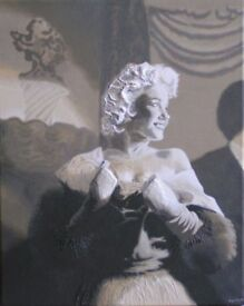 MARILYN MONROE - ORIGINAL PAINTING on CANVAS
