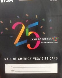 100$ Gift Voucher for Mall of America (unopened) Expires 2024