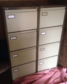 filing cabinet Roneo brown 4 drawers with hanging file