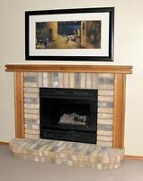 COMPLETE FIREPLACE MANTLE