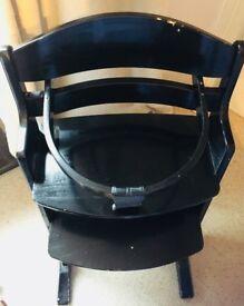 BabyDan black highchair £10