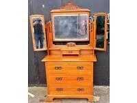Vintage cedarwood dressing chest