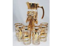 NEW GOLD DESIGNED 7PC DRINK SET