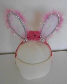 Novelty Pink 'Light Up' Bunny Ears – One Size (Numerous Available)
