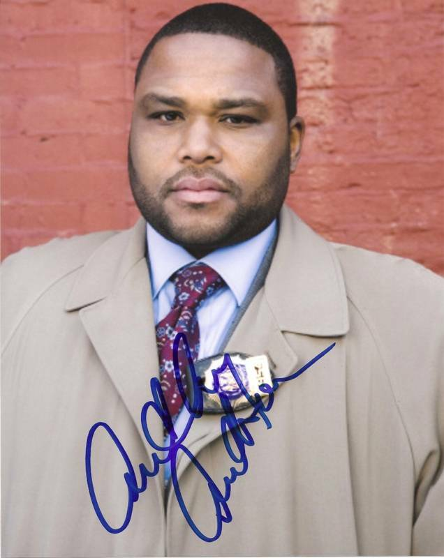 ACTOR ANTHONY ANDERSON SIGNED AUTHENTIC 'LAW AND ORDER' 8X10 PHOTO w/COA