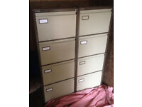 filing cabinet Roneo brown 4 drawers with hanging file pedestal