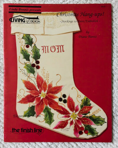 CHRISTMAS HANG-UP~STOCKINGS TO PAINT/EMBELLISH~Linda Denis Living by Design