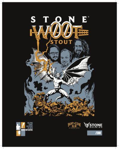 JOE JUSKO autographed W00tstout 2018 Stone Brewing print, limited to 300!