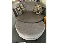 large 2seater sofa and cuddle chair
