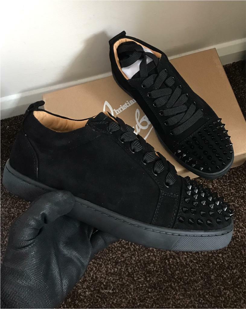 wholesale dealer 6299d 0550c Christian Louboutin Sneakers (Black Suede) | in Ealing Broadway, London |  Gumtree