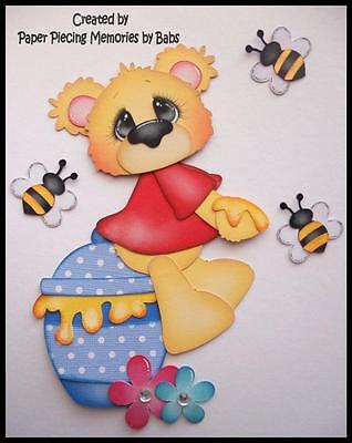 Honey Bear Set Premade Paper Piecing for Scrapbook Pages by Babs