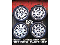 FORD ALLOYS & NEW TYRES, 17 INCH, FOCUS, TRANSIT CONNECT
