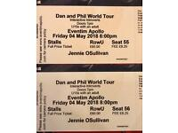 Dan and Phil World Tour Tickets x 2