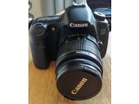 Canon EOS 60D with 3 lenses, flash gun, tripod, monopod, spare batteries, case and various extras