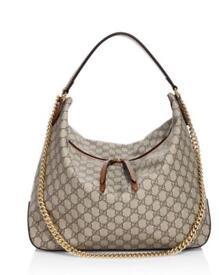 Gucci GG supreme hobo canvas handbag
