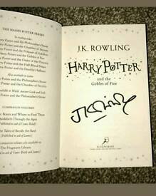 JK ROWLING signed Harry Potter book with Coa