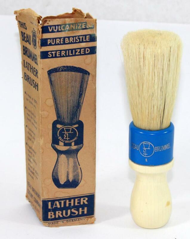 Vintage Unused Beau Brummel Shaving Lather Brush w/ Original Box Made in Germany