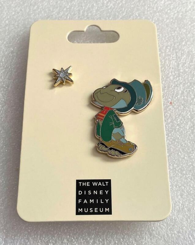 WDFM Walt Disney Family Museum Jiminy Cricket Wish Upon a Star Pin Set