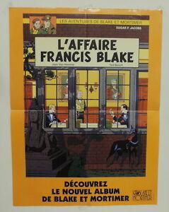 Blake-et-Mortimer-poster-pub-Affaire-Francis-Blake-Ted-Benoit-Van-Hamme-1996