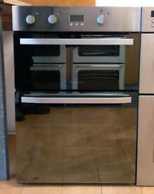 Hotpoint CUCINA DHS53XS Fan Assisted Electric Built In Double Oven In Mirror Glass / Stainless Steel