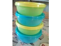 New! Tupperware Salad and Leftover Bowls