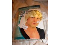 Boy Band Blonde fun wig - new in original packaging. Party people