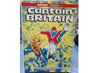 CAPTAIN BRITAIN (Marvel Comics) Graphic Novel / Trade Paperback - VG Condition. Alan Davies Art