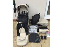 OYSTER Babystyle 1 Pram/Stroller with Newborn Carrycot and Accessory pack