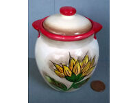 Italian ceramic lidded pot
