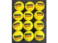 Teloon Coaching Pressureless Tennis Balls 1 Dozen or Bag of 48