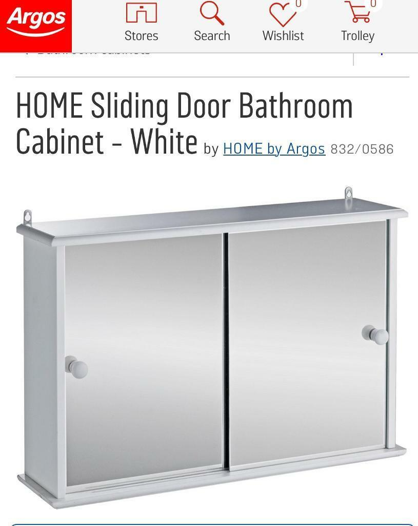 sliding door bathroom cabinet white brandnew sliding door bathroom cabinet white boxed in 26223