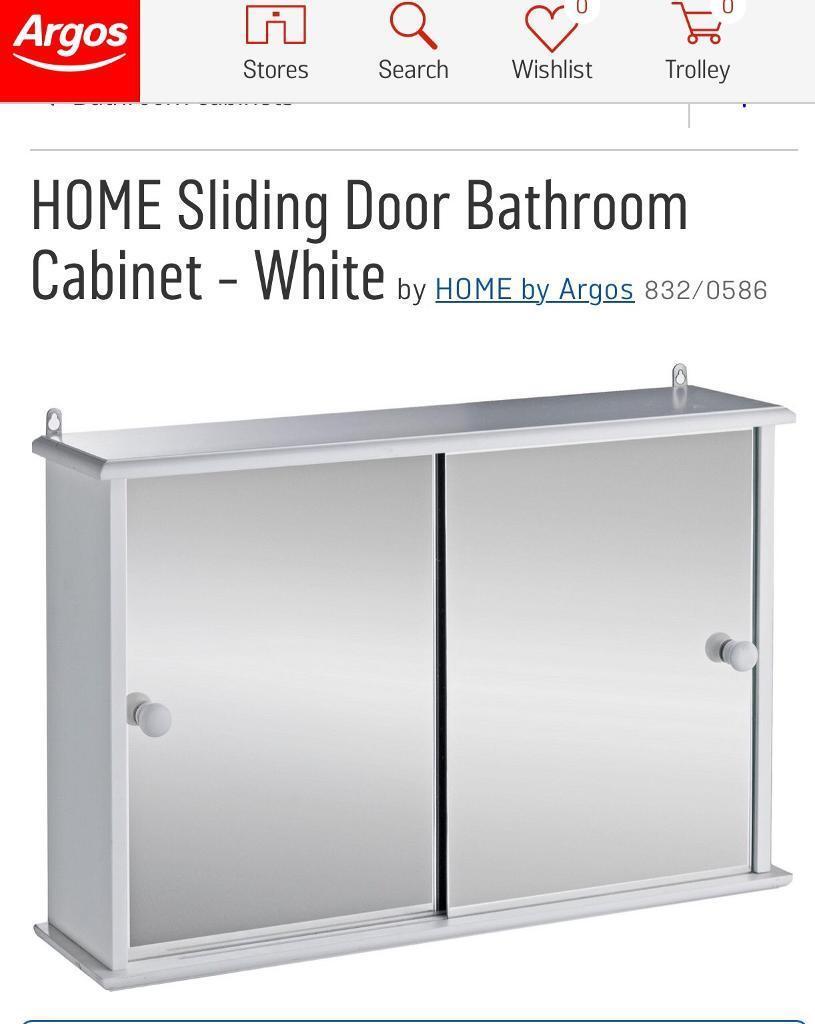 Brandnew Sliding Door Bathroom Cabinet White Boxed In