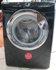 Hoover Black 8kg Load 1400 Spin Washing Machine inc 6 Month Cover