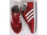 ADIDAS HAVEN TRAINERS MYSTERY RED/WHITE - UK SIZE 5 **Brand New & Boxed