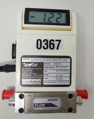 Sierra Instruments Nitrogen Flow Meter Top Trak 822s-l-2-ov1-pv1-v1-a1 Ship Toda