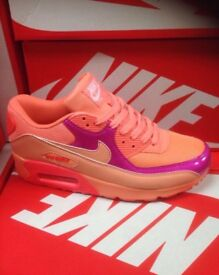 LT Orange & Pink Nike Trainers Brand New