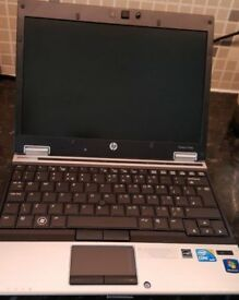"HP Elitebook 2540p Intel i5 Laptop. 4gb. 250gb. 12.5"" screen"
