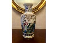 A stunning vintage large unusual decorative Chinese Calligraphy Vase. Great condition - 31cm's Tall