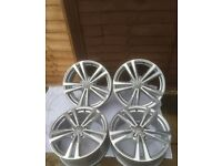 SET OF 4 GENUINE AUDI A3 S LINE 2014 ALLOYS 5 TWIN SPOKE