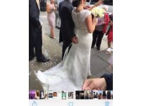 Mori Lee wedding Dress size 10/12 as new cleaned.
