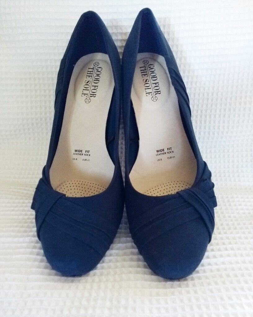 bec5d587b155 Blue Suede Court Shoe UK 8