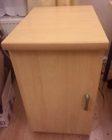 MUST GO! Wooden cupboard with 2 shelves