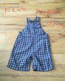 Next dungarees two years old
