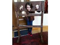 Sturdy wooden stocks