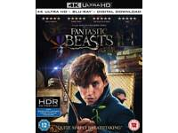 Fantastic beast and where to find them 4k bluray